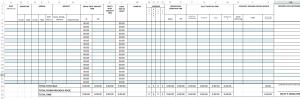 Utsnitt av Eivins Excel logbook
